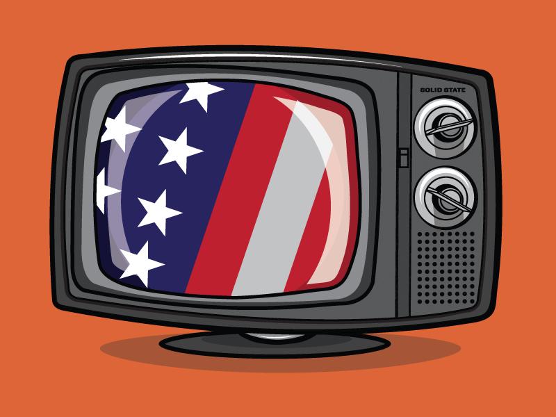 American Television jupiter visual illustration vector flag television tv