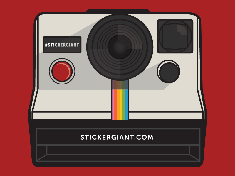 Polaroid illustrator jupitervisual onestep retro illustration camera polaroid vector