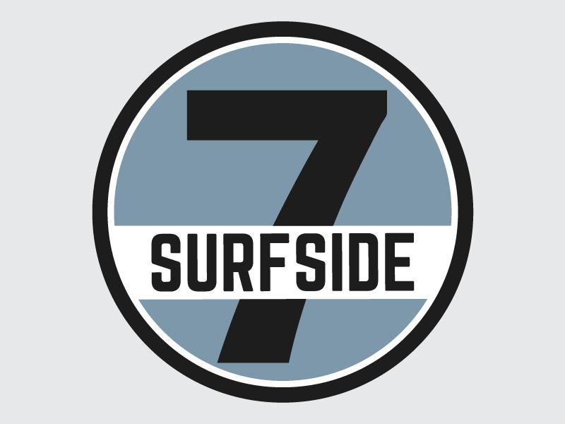 Surfside 7 Logo blue fort collins colorado retro logo