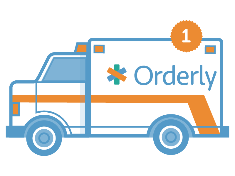 Orderly Health illustration icon ambulance vector