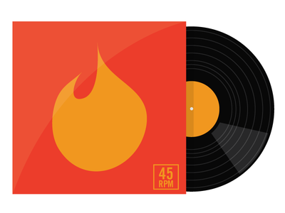 12 Inch vector illustration record vinyl album