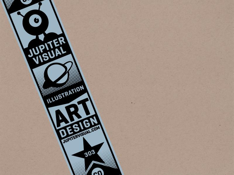 Jupiter Visual Custom Tape branding vector jupitervisual tape