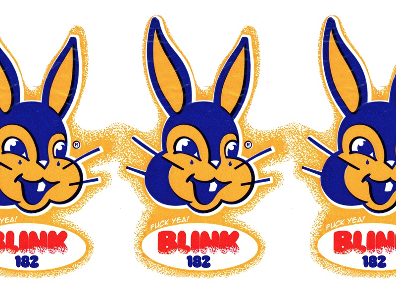 Blink 182 blink 182 bunny retro typography bands clothing branding illustration identity apparel logo design