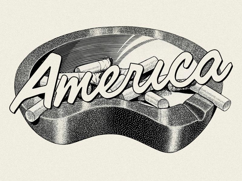 AMERICA typography collage clothing streetwear branding illustration identity apparel logo design