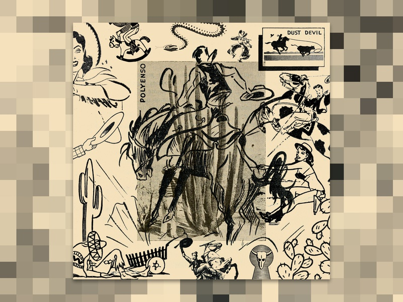 DUST DEVIL moodboard polyenso bands music album art collage digital illustration design