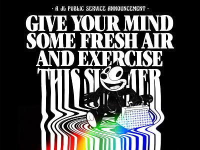 SUMMER 2020 2020 cartoons summer collage psychedelic retro spoof illustration design