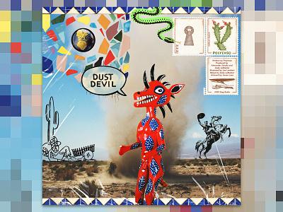 DUST DEVIL (ALT) photoshop collage digital album cover album art bands music polyenso design