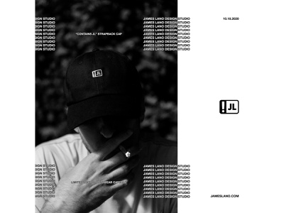 CONTAINS JL typography identity clothing streetwear branding headwear hats apparel logo design