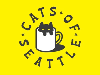 Cats of Seattle. instagram washington seattle pets cats vector typography clothing branding illustration identity design logo