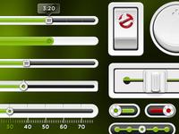 """Slimer """"Green"""" PSD UI Kit"""