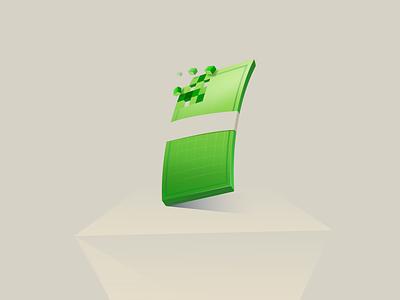 Digital Currency dollar mula green icon digital illustration pixel crypto digital finance money