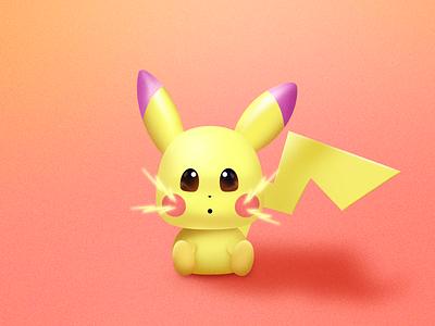 Pikachu lightning thunder mouse character branding retro texture vintage design illustration illustrator pikachu pokemon