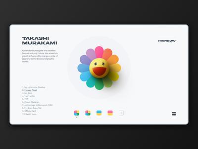 Concept Site logo retro branding illustration rainbow artist portfolio website webdesign ux ui site flower interactive creative concept art direction