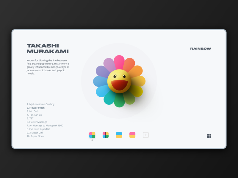 Concept Site logo retro branding illustration rainbow artist portfolio website webdesign ux ui site flower interactive creative concept art direction