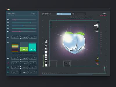 Custom Emoji App illustraion data charts cards ui design tool managment dashboard analytics clean ux ui smart product ios interface dark peach emoji black app ui