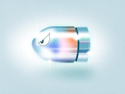Bullet Bill vector retro texture vintage logo design icon illustration figma