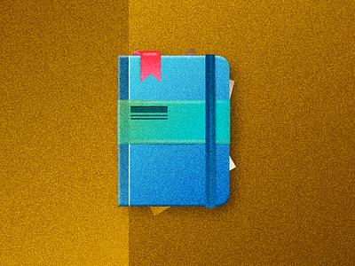 Journal  logo moleskin design web icon illustration notebook journal