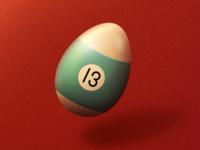 Egg billiards