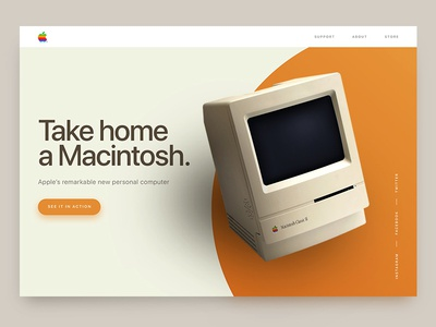 Apple – Daily UI #003 Landing Page vintage design dailyui challenge mac ui web