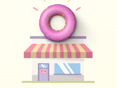 Donut Shop sweet signs ui retro vintage texture icon logo design illustration donut shop