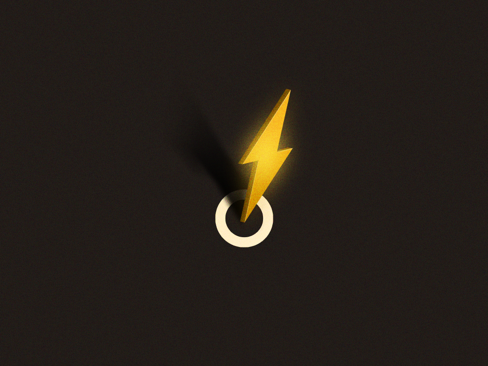 Bolt thunder lightning light bolt vector retro vintage texture icon illustration