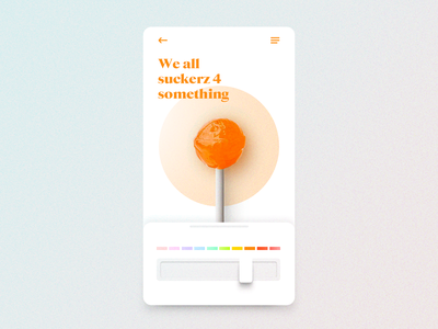 Sucker UI candy lolipop gauge orange color app mobile ux design ux ui