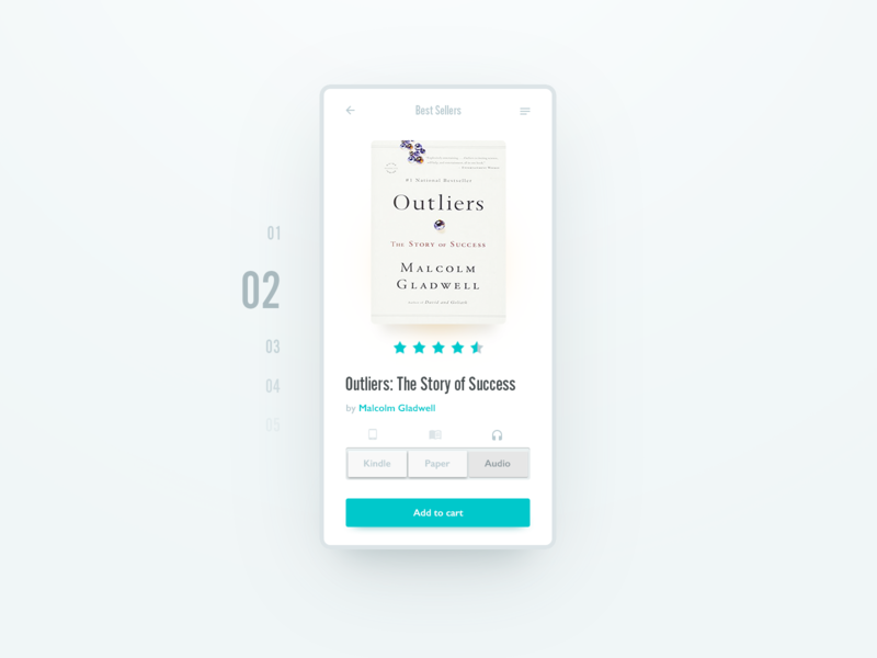 Book UI design typography dailyui mobile interface shopping app reading app design ux ui books
