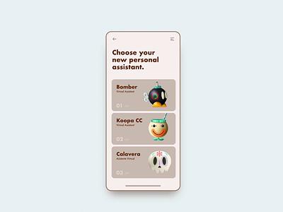 Personal AI - Motion ux motion interaction challenge app web retro texture illustration branding ui