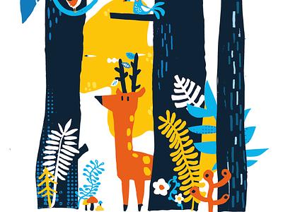 Forest forest artwork pattern design