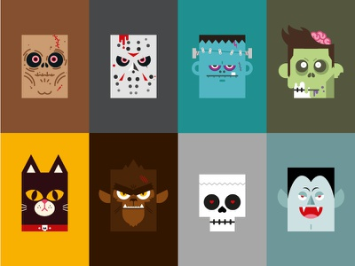 MONSTERS icon graphic design character design halloween monster