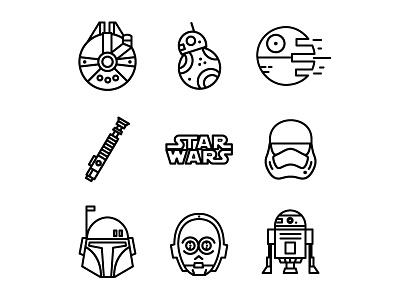star wars c3po icon vector stormtrooper starwars