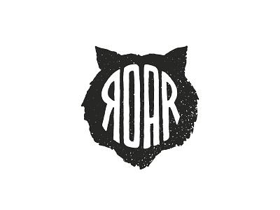 Roar tiger korea retro identity branding logo icon illustration graphic design character design