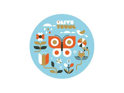 SPRING ui tiger korea retro identity branding logo icon illustration graphic design character design