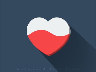 Heart mrjelveh minimal simple blue love red heart flat