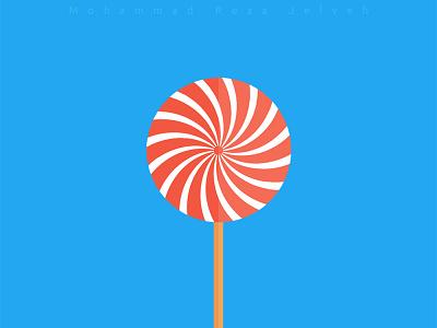 Lollipop mrjelveh minimal simple blue red sweet candy lollipop flat