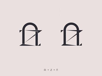AZ Monogram 🚪 monogram 🚪 door-logo door az az-logo z a logotype design logo mrjelveh