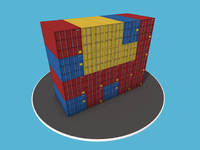 Shippingcontainer stack