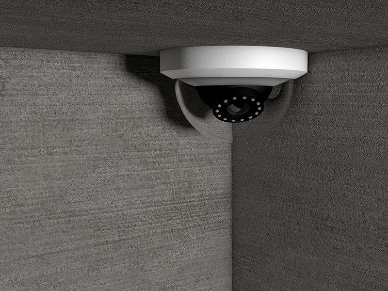 Security monochrome monochromatic concrete material texture camera modeling c4d cinema 4d model 3d