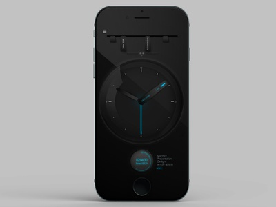 My First Dribbble Shot - Freelancer Clock time tracker freelancer clock ui ux clock app first shot
