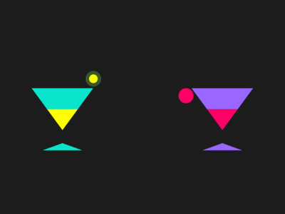His and Hers Cocktail graphic