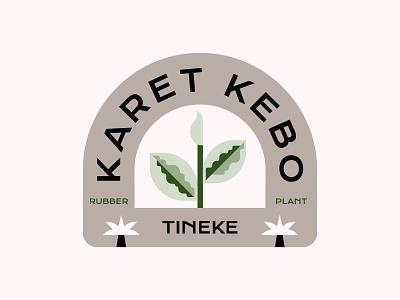 Karet kebo plant rubber logo kebo karet karetkebo ruby tineke badge rubberplant