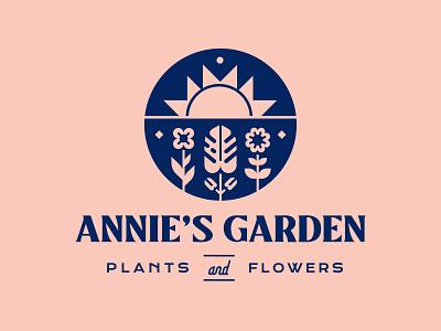 Annie's Garden pt. 2 flower plant botanical garden branding design vector logo
