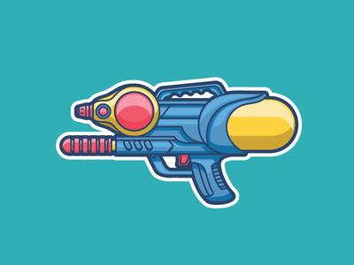 Water Gun sticker watergun child toys toy water gun