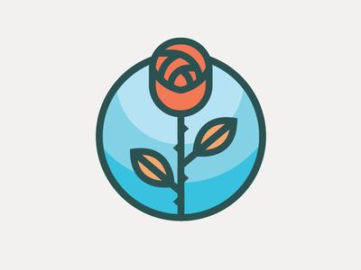 Rose patch vector flower rose