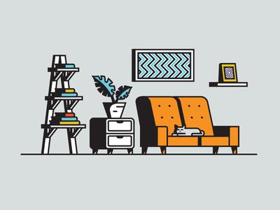 Living room is my territory