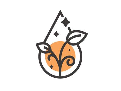 Purity spa water drop leaves leave logo