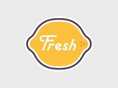 Fresh fresh logo lemon