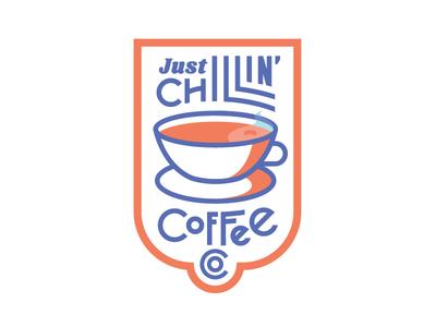 Just Chillin' logo brand coffee