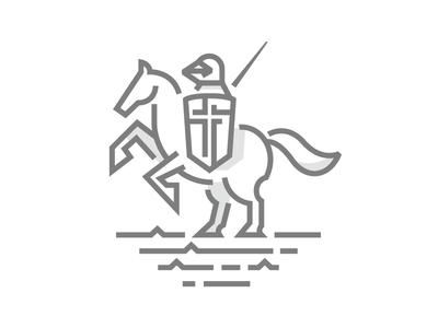 Knight war horse vector knight