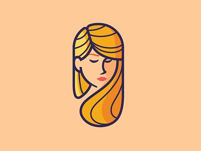 Woman portrait vector logo portrait girl woman